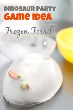 Dinosaur Birthday Party Game Ideas Frozen Dinosaur Fossil birthday parties, frozen dinosaur, dinosaur birthday party games, party crafts, dinosaur party, dinosaur parti