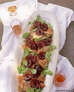 Prosciutto-Arugula Salad with Warm Plums Recipe