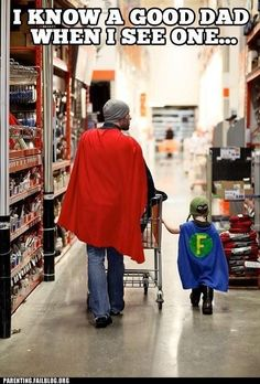 super dad, hero, cape, parenting done right, sons, future husband, children, kids, fathers