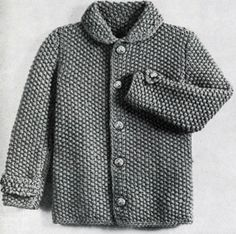 Jacket knit pattern from Fashions in Wool for Little Tots, originally published by Hilde, Volume 115.