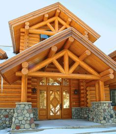 Log cabin entryways on Pinterest