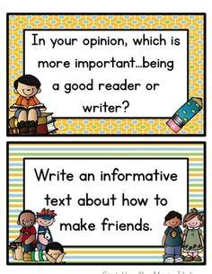 Free - school writing prompts