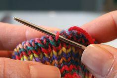 Invisible bind-off tutorial - AKA tubular bindoff.