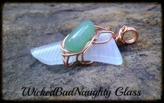 Recycled  Glass And Green Aventurine Wire by wickedbadnaughty