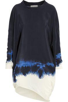 Tie-dyed silk dress