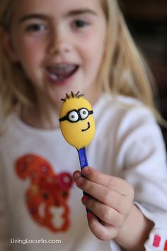 Despicable Me Minion Birthday Party Desserts - Candy Spoons