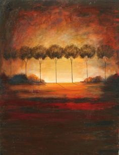 Rustict treescape  textured earth tones forest by LaurenMarems, $250.00