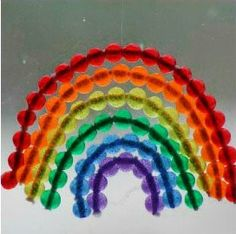Just in time for St. Patrick's Day! Radiant Rainbow Suncatcher