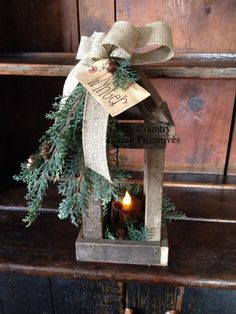 countri christma, candle holders, christmas lanterns, christma decor, joyous christma, decor accessori, country prim christmas crafts, country christmas, primitive holiday decorating
