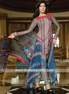 Signature Line Embroidered Lawn Collection 2014 By House of Ittehad  Pakistani Lawn Collection 2014 With Prices: Signature Line Embroidered Lawn Collection 2014 By House of Ittehad in Boston, Chicago, Dallas