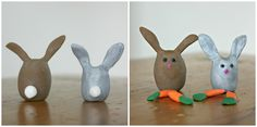 polymer clay bunnies