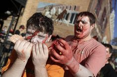 It's a #zombie #apocalypse in #downtown #RapidCity #SouthDakota! Check out zombie walk #photos on the link.