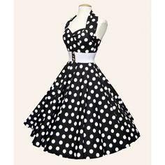 Polka dot derby dress