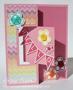 Hello Flip-its | Flickr - Photo Sharing! Card created by Helen Cryer using Stamps of Life products. (page 1 of 2)