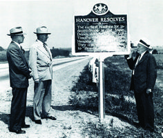 In 1946, Pennsylvania Historical and Museum Commission installed the first of the familiar aluminum state historical markers. Learn more fun facts from PHMC's 100 year history in the interactive timeline on our website: http://phmc.info/phmctimeline