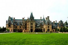 The Biltmore House – Asheville, North Carolina, USA    The Biltmore House, in Asheville, North Carolina, is America's largest privately owned home. Built by the Vanderbilt family, this 250-room home resembles a French chateau. It houses original art from masters such as Renoir, 16th-century tapestries, Napoleon's chess set, a library with 10,000 volumes, 65 fireplaces, an indoor pool, bowling alley, and priceless antiques. houses, castles, chess sets, homes, biltmore estate, travel idea, biltmor hous, asheville nc, north carolina