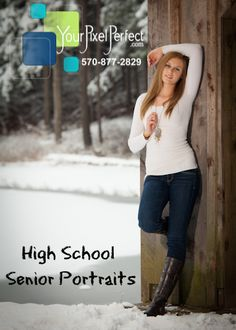 unique Senior Pictures Ideas For Girls | North Pocono high school girls senior pictures in a winter setting ...