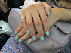 "Essie ""Candy Apple"" manicures at the Rebecca Minkoff Spring 2013 runway show. #nails #Essie #nyfw"