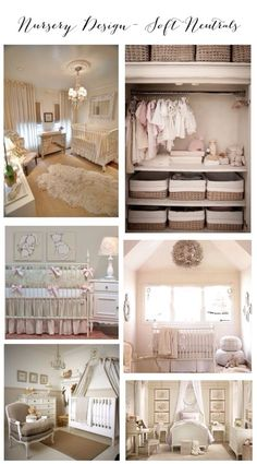 Nursery Design- Soft Neutrals Ideas and inspiration for baby nursery in soft colors- beige, cream, white via Frosted Events www.frostedevents.com