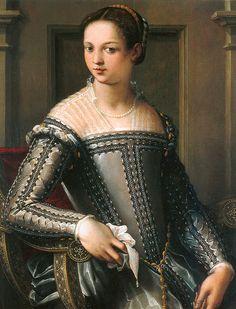 Jacopo Zucchi (circa 1540-1596) - Portrait of a woman, circa 1560/65