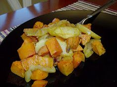 Crock pot sweet potato and apple bake.  mmm