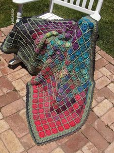 Ravelry: Project Gallery for Painted Pixels Blanket pattern by Susan Carlson