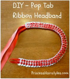 pop tab headband tutorial.....we all know I have the means to do this!