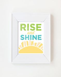 11 x 14 Rise and Shine Print by LivyLoveDesigns on Etsy, $25.00