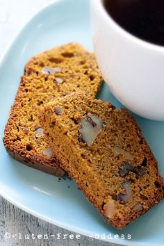 Gluten-Free Pumpkin Bread with Walnuts