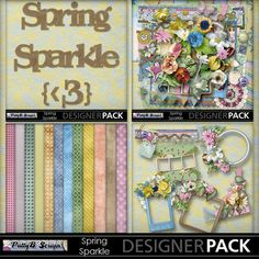 Spring Sparkle Collection-(PattyB Scraps) at MyMemories  #pattybscraps #digitalscrapbooking #mymemories