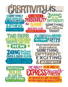 Creativity is... by Justin Poulter, via Behance