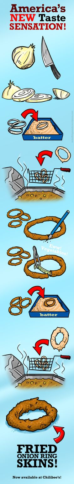 It's the best part of the onion ring anyway. Problem solved by Kyle Hepworth - Creative Guy.
