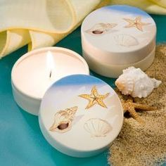 Fabulous Beach Favors Collection Travel Candles