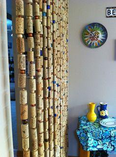 cortina de corchos