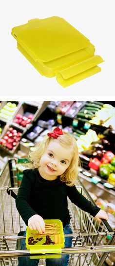 Tray that clips on to shopping cart - great for holding everything from coupons to dry snacks!