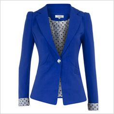 Royal blue jacket  My favorite combo Blue and Dots.. She Blue my mind. www.sisterswithbeauty.com Approved