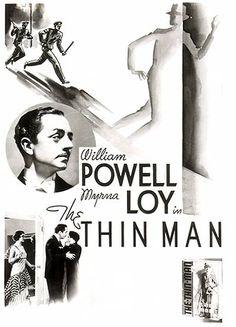 The Thin Man poster illustration | The Thin Man