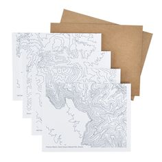 pawling print studio | topographic card set