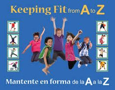 Keeping Fit from A to Z (book review) 100 ways to keep kids active (bilingual)