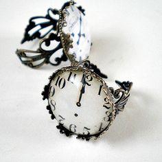Vintage Clock Face Rings