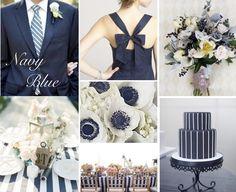 Pantone Inspired Color Boards: By Gavita Flora #Navy Wedding #Nautical #Pantone