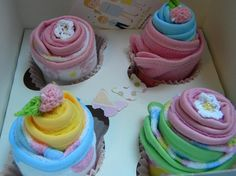 Washcloth Cupcakes / Baby Shower Gift Idea