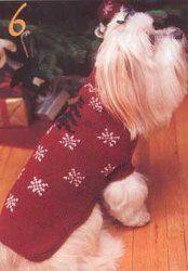 Holiday Dog Coat: free knit pattern