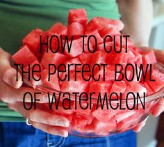 Perfect bowl of watermelon.