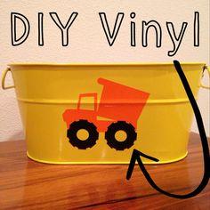 DIY Birthday party dump truck construction bucket boys birthday decor party baby shower vinyl tractor drink dispenser label  on Etsy, $5.00