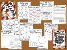 Ginger Snaps: Cookin' Up a Great Year - a beginning or end of the year unit