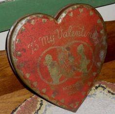 old tin candy box