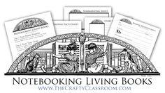 book free, printabl notebook, free notebook, live book, living books, notebook live