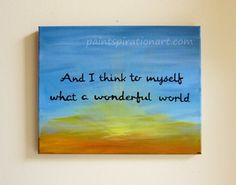 Inspirational Quote Original Canvas Painting by Paintspiration, $69.00