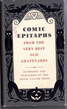 holiday, tombston, comic epitaph, comics, halloween, graveyard, book cover